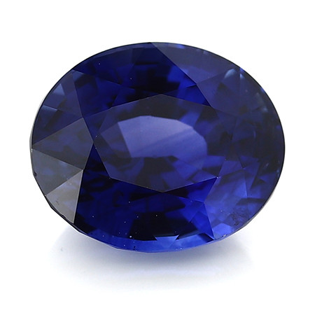 4.15 ct Oval Blue Sapphire: Rich Royal Blue