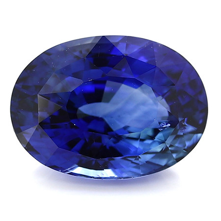 5.80 ct Oval Blue Sapphire: Rich Royal Blue