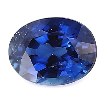 0.24 ct Oval Blue Sapphire: Royal Blue