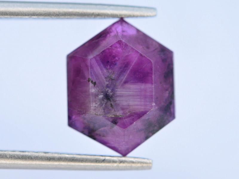 Rarest 3.55 ct Trapiche Pink Kashmir Sapphire ~ G AQ