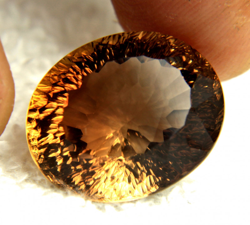 27.3 Carat Golden Brown VVS Brazil Topaz - Gorgeous