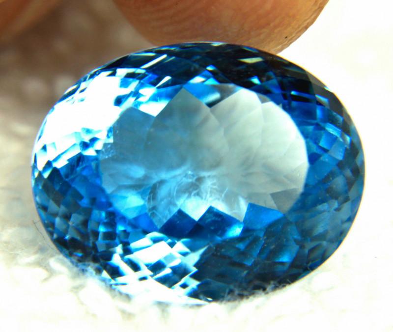 23.54 Carat Blue Brazilian VVS Topaz - Gorgeous