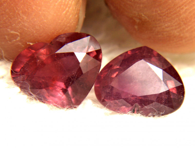 8.63 Tcw. Matched Ruby Hearts - Gorgeous
