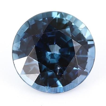 0.87 ct Round Blue Sapphire: Deep Rich Blue