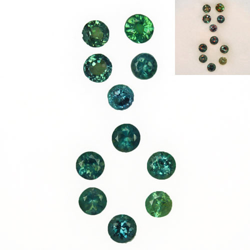 1.58 Cts Natural Color Change Alexandrite Round Cut 11Pcs Parcel