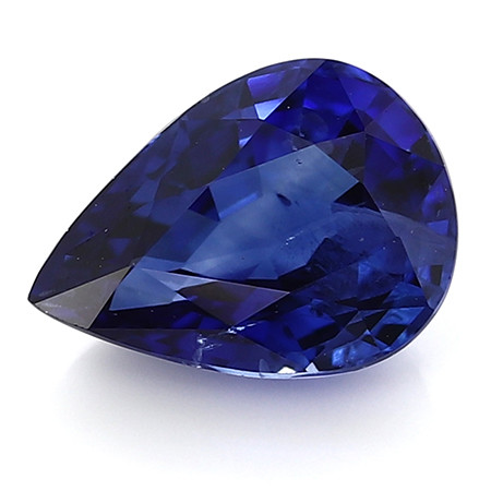 1.37 ct Pear Shape Blue Sapphire: Rich Royal Blue
