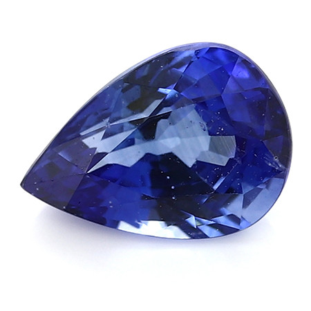 1.38 ct Pear Shape Blue Sapphire: Rich Blue