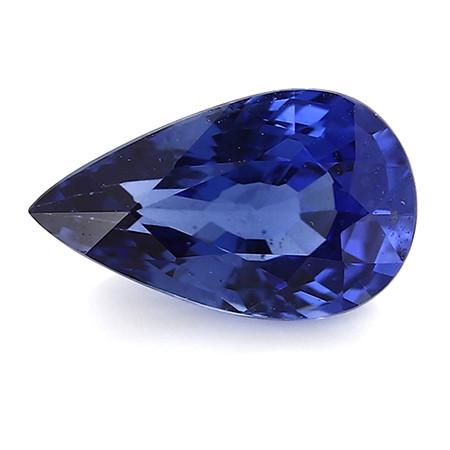 1.17 ct Pear Shape Blue Sapphire: Royal Blue