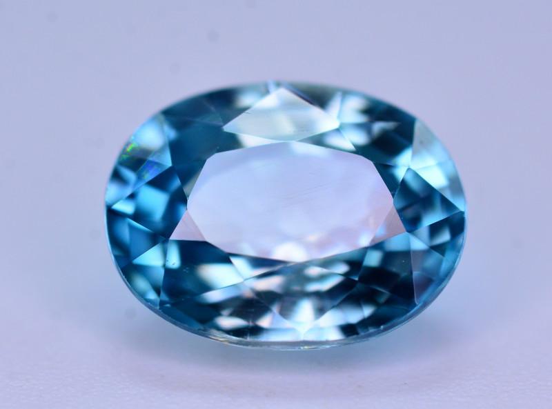 Vibrant Blue ~ 3.25 Ct Natural Zircon From Cambodia. RA1