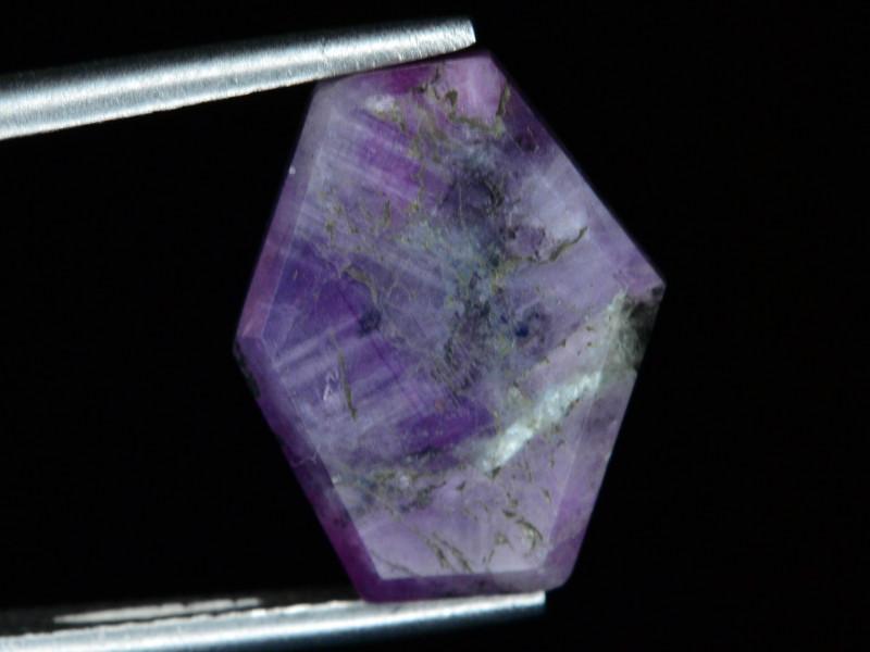 Rarest 6.80 ct Trapiche Pink Kashmir Sapphire ~ AD