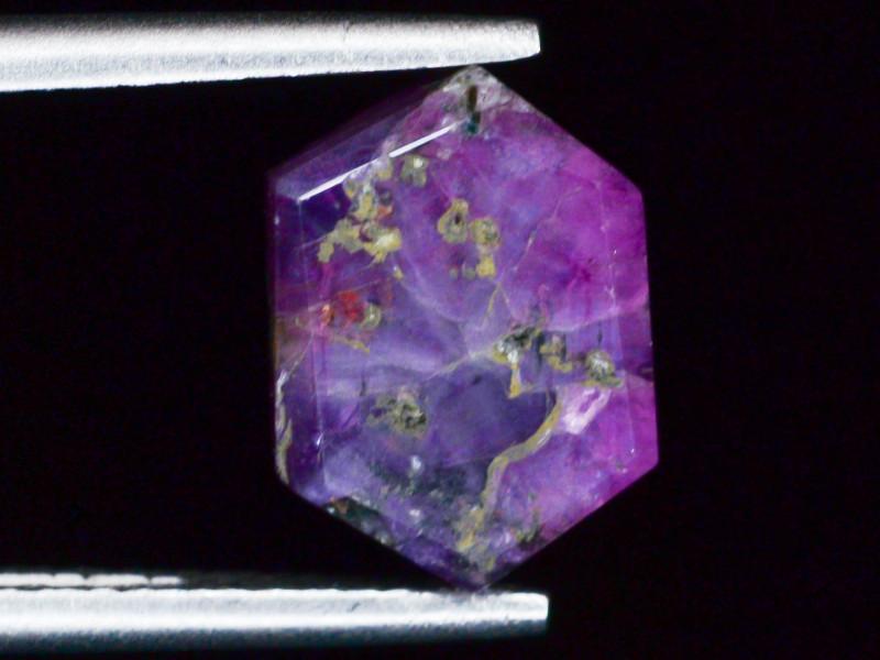 Rarest 3.30 ct Trapiche Pink Kashmir Sapphire ~ AD