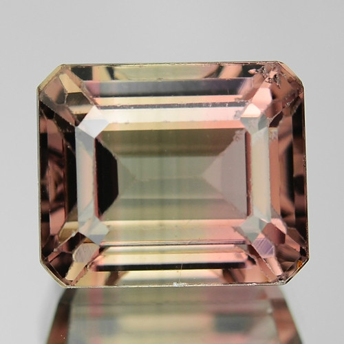 6.54 Cts Untreated Bi colour Tourmaline Natural Loose Gemstone