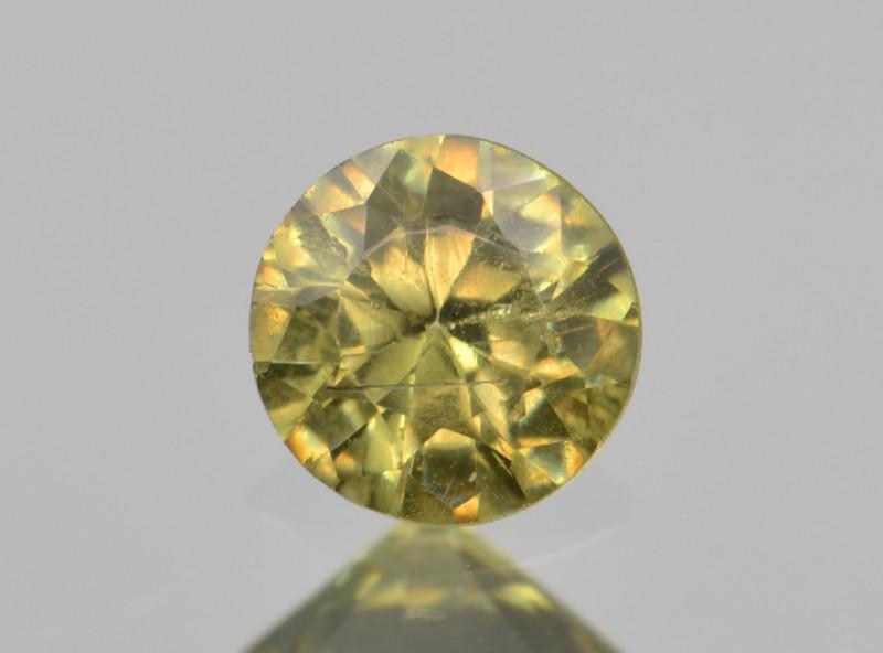 Natural Demantoid Garnet 0.40 Cts, Full Sparkle Faceted Gemstone