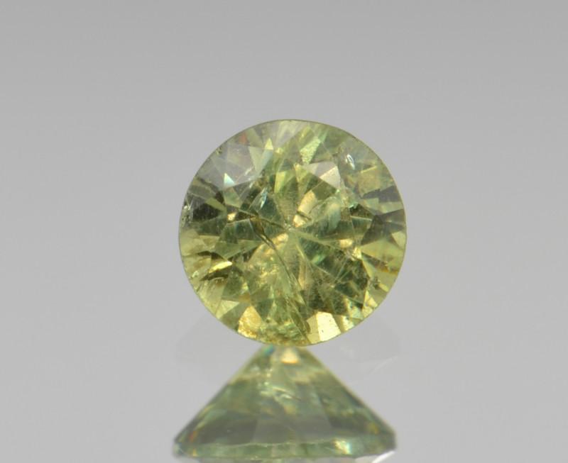 Natural Demantoid Garnet 0.52 Cts, Full Sparkle Faceted Gemstone