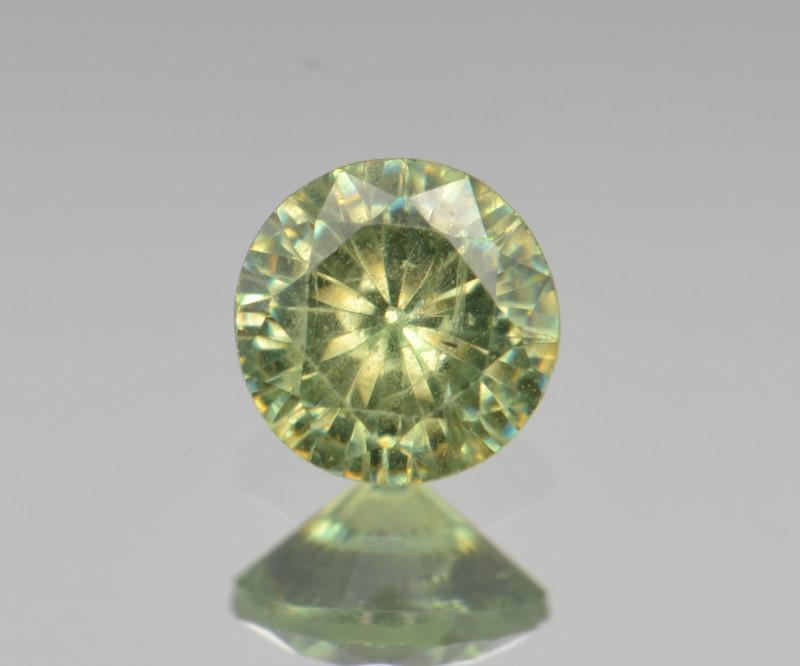 Natural Demantoid Garnet 0.53 Cts, Full Sparkle Faceted Gemstone