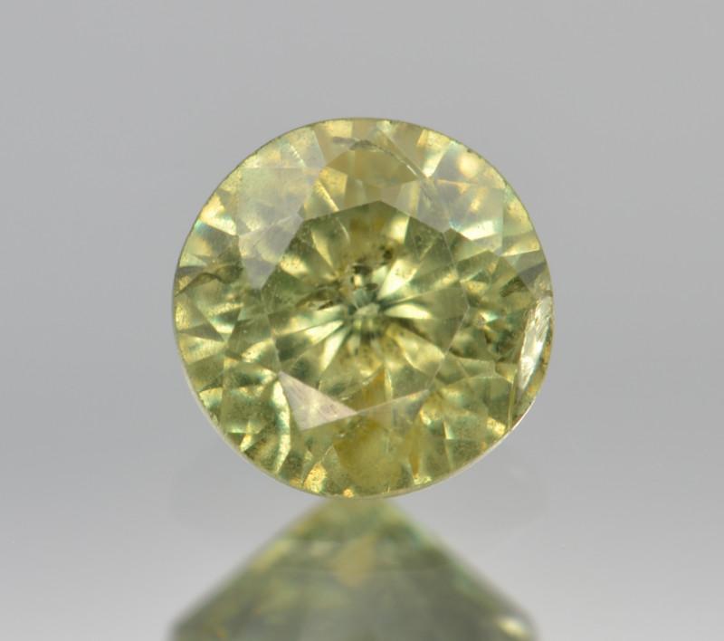 Natural Demantoid Garnet 0.59 Cts, Full Sparkle Faceted Gemstone
