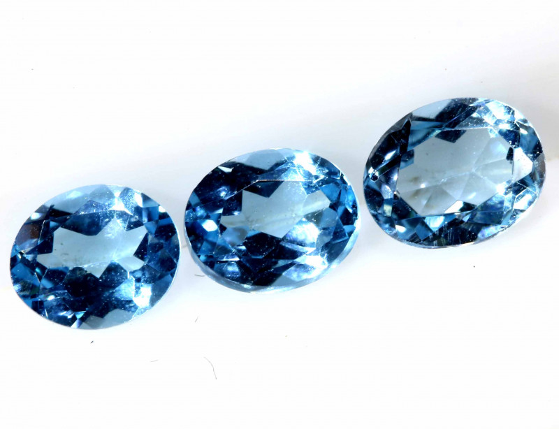 1.15 CTS  BLUE TOPAZ NATURAL FACETED (3 PCS)  PG-1385