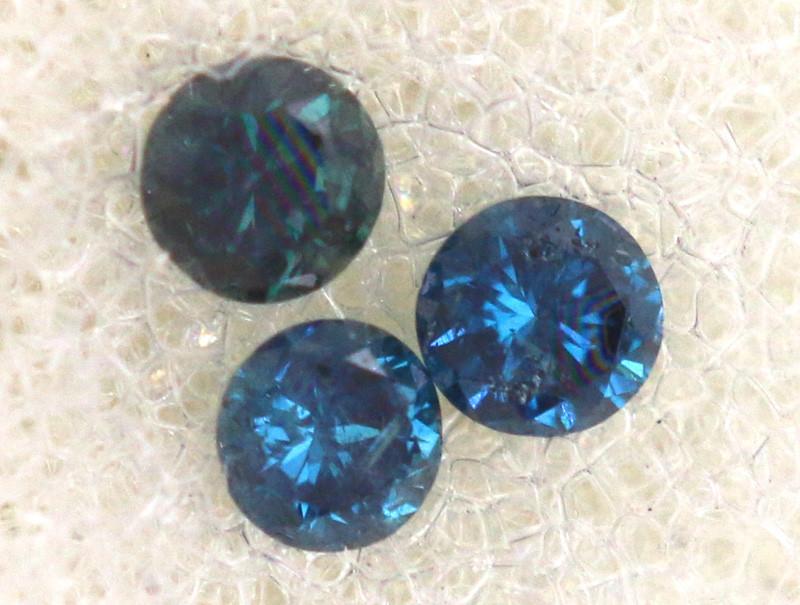 0.05 Cts Blue Diamonds brilliant cut parcel  SD-398