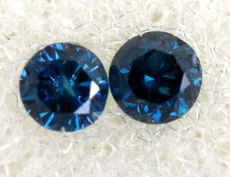 0.06 Cts Blue Diamonds brilliant cut  parcel SD-401