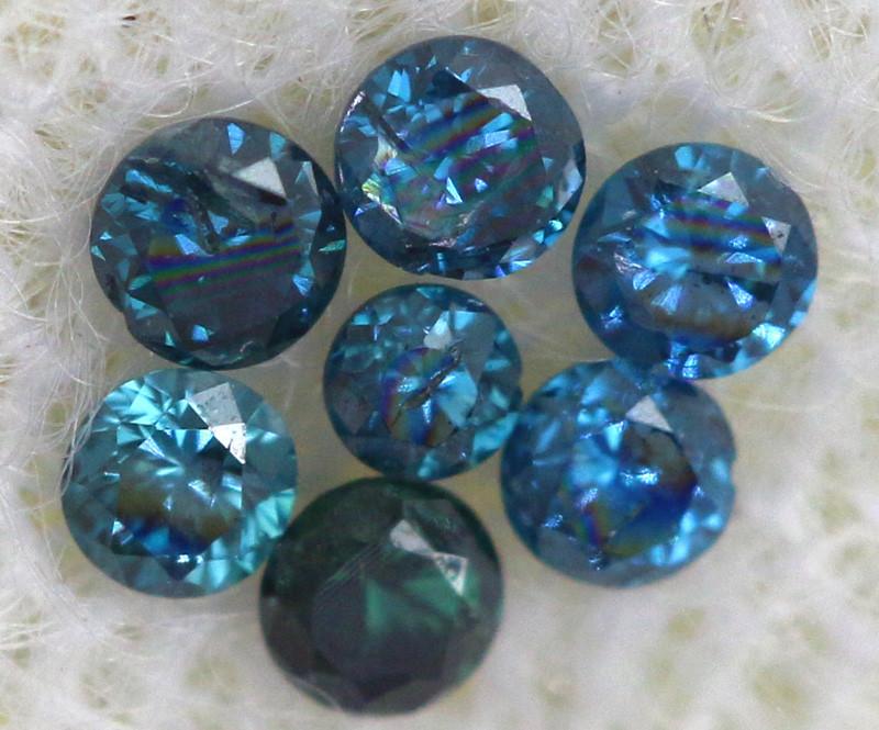 0.10 Cts Blue Diamonds brilliant cut  parcel SD-402