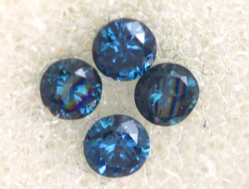 0.05 Cts Blue Diamonds brilliant cut parcel  SD-404