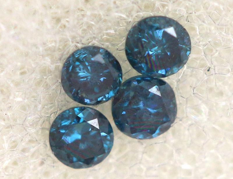 0.06 Cts Blue Diamonds brilliant cut parcel SD-405