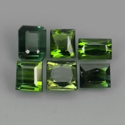 3.35 CTS-ALLURING TOP GREEN PARTY COLOR GREEN TOURMALINE OCTAGON CUT!!