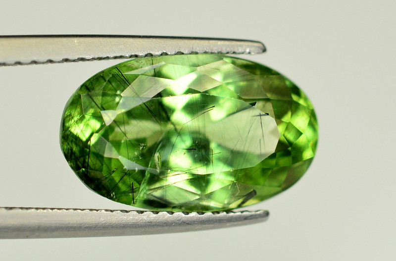 6.60 Ct Natural Gorgeous Rutile Peridot