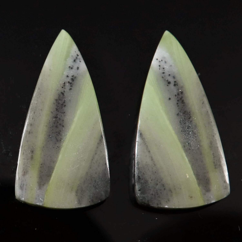 Serpentine Natural Gemstone Fancy Pair Loose Cabochon 22.05cts
