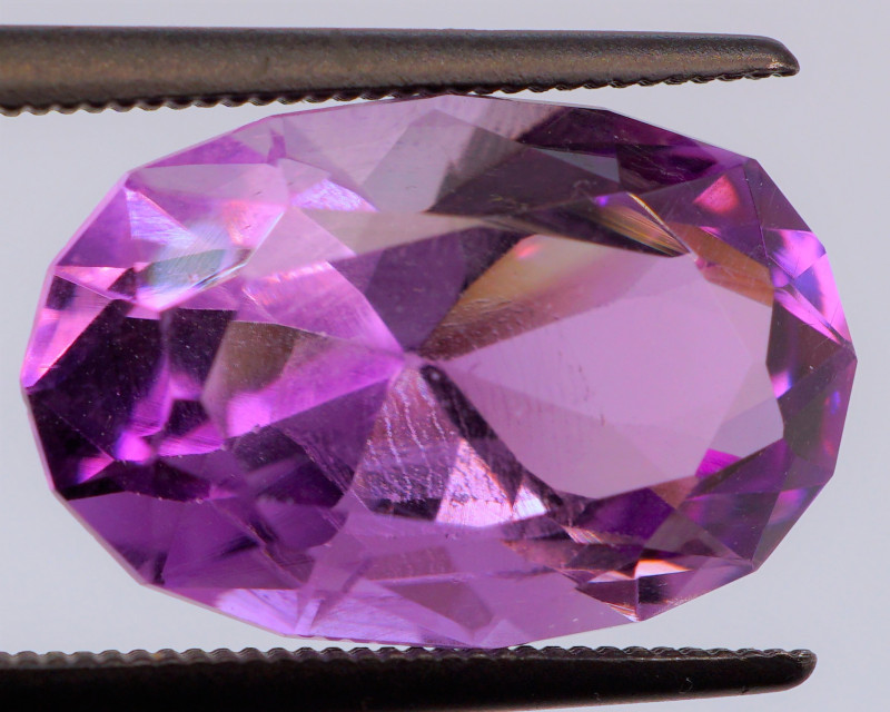 FREE SHIP! MASTER CUT! Unheated 6.60 CT Pinkish Purple Amethyst (Uruguay)