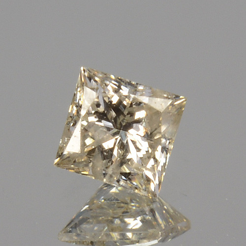 ~UNTREATED~ 0.14 Cts Natural Diamond Fancy Yellow Princess Cut Africa