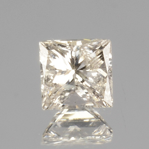 0.08 Cts Untreated Natural White Diamond Princess Cut Africa