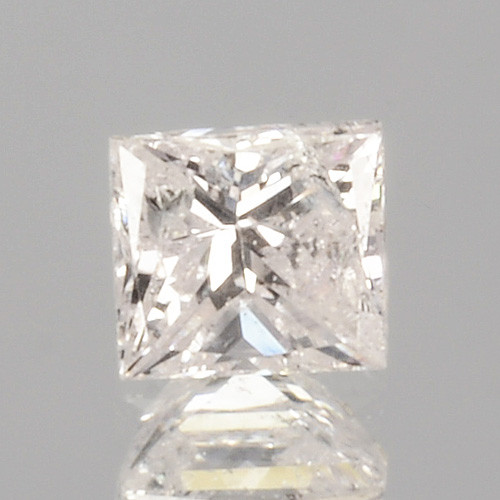 0.12 Cts Untreated Natural White Diamond Princess Cut Africa