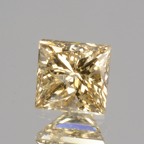 ~UNTREATED~ 0.11 Cts Natural Diamond Fancy Yellow Princess Cut Africa