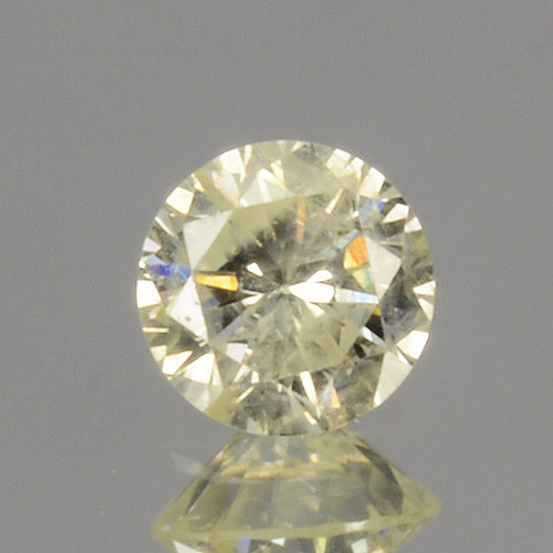 ~UNTREATED~ 0.11 Cts Natural Diamond Fancy Yellow Round Cut Africa