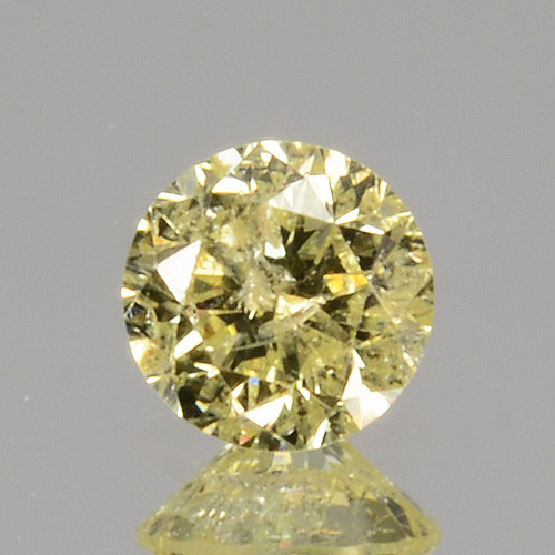 ~UNTREATED~ 0.12 Cts Natural Diamond Fancy Yellow Round Cut Africa