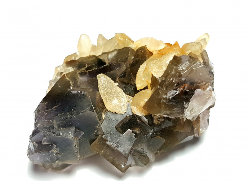 Amazing Natural color Fluorite combine with lovely Calcite 580Cts-P