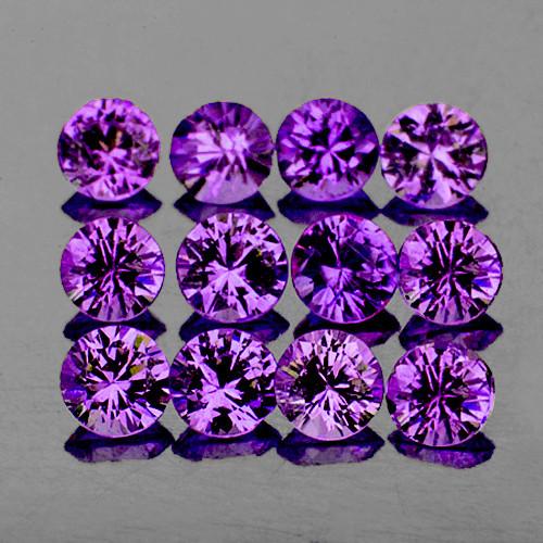 2.50 mm Round 12 pcs Lavender Purple Sapphire [VVS]
