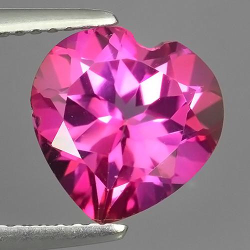 4.10 CTS WONDERFUL COLOR 10.13MM HEART SHAPE LOVELY PINK TOPAZ