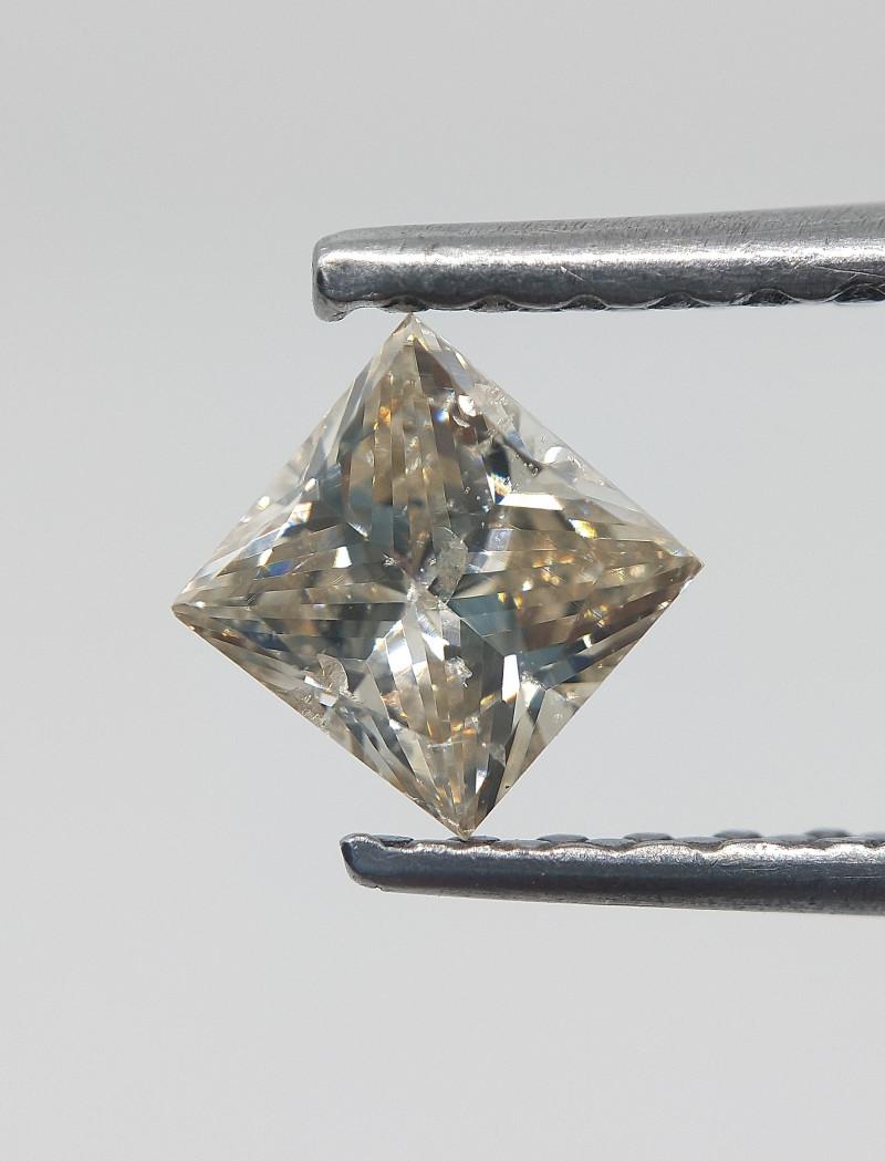 Princess Cut Diamond , Loose natural Diamond , 0.59 cts