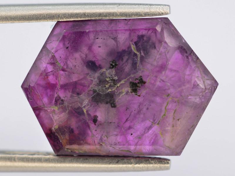 Rarest 6.25 ct Trapiche Pink Kashmir Sapphire ~T