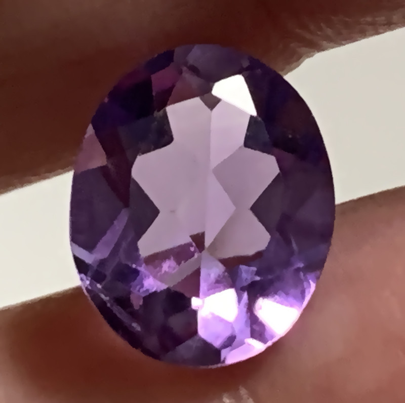 Violet Oval Cut Amethyst VVS No Reserve