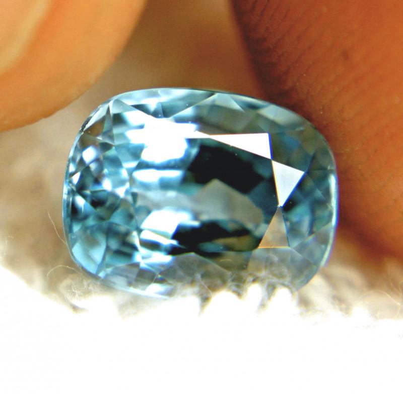 4.71 Carat Blue Southeast Asian VVS1 Zircon - Gorgeous