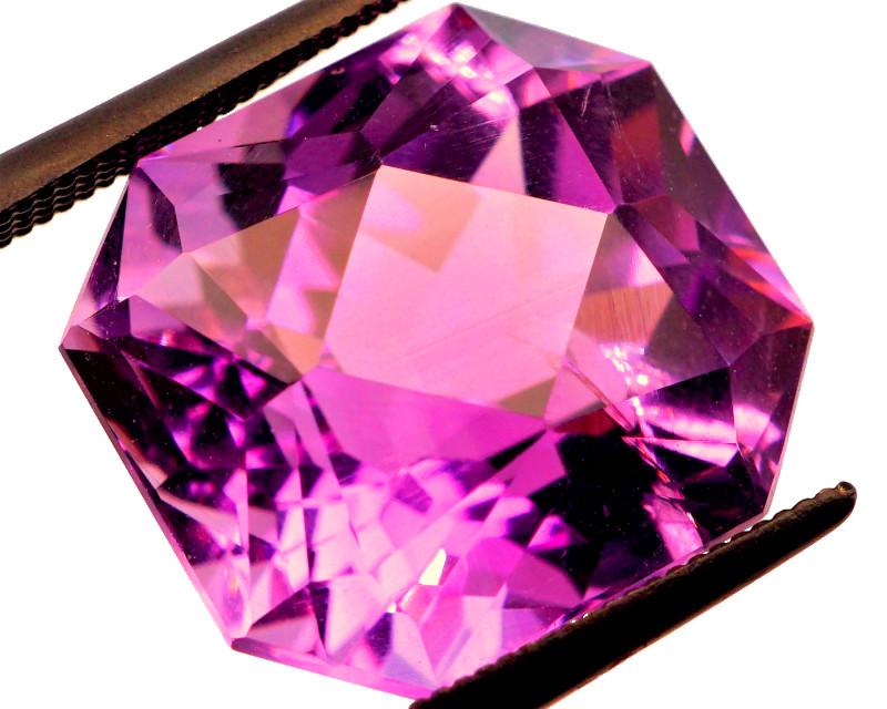 GORGEOUS! Fancy Cut! 11.52 CT Pink Purple Amethyst   FREE SHIP!