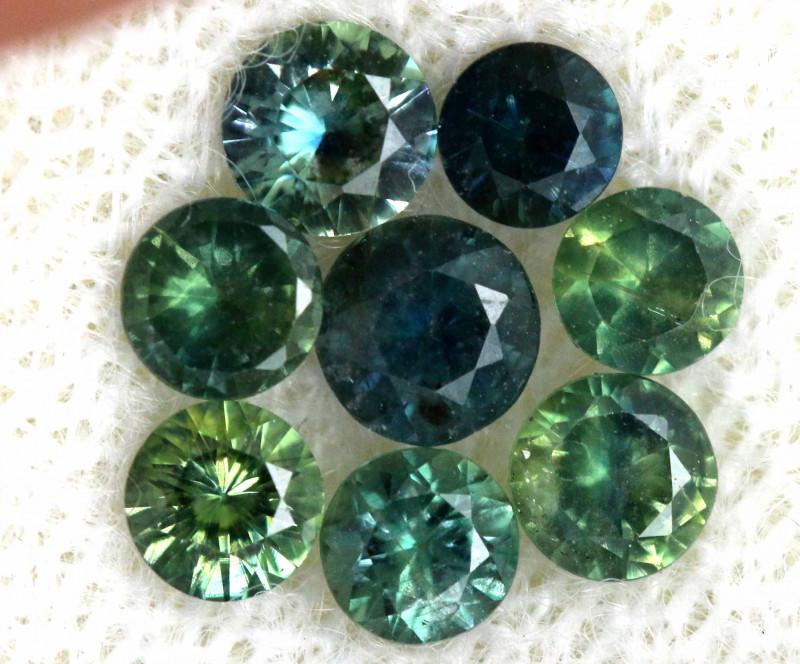 1.06-CTS Australian Sapphire Faceted Parcel( 8 pcs)  PG-3309