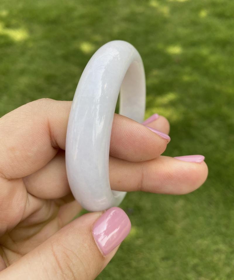Natural white Jadeite bangle