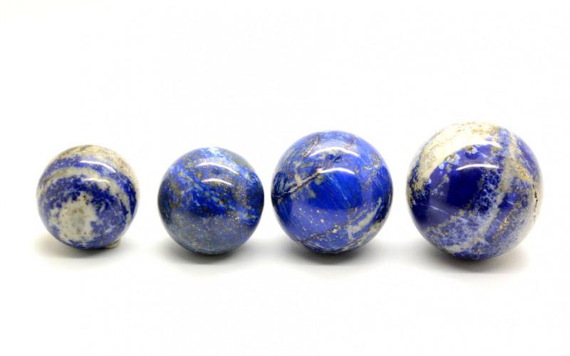 1456 CT Lapis Lazuli Healing Sphere-4 Pcs