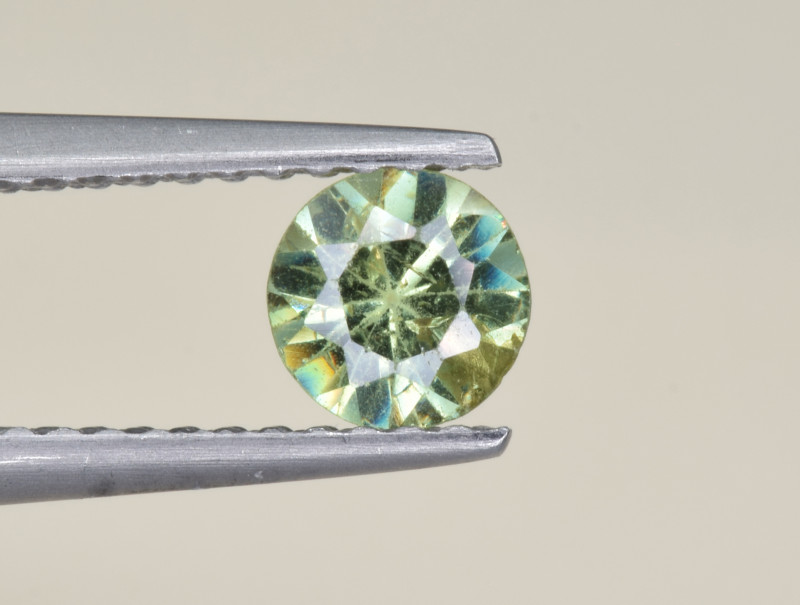 Natural Demantoid Garnet 0.53 Cts, Full Sparkle Faceted Gemstone