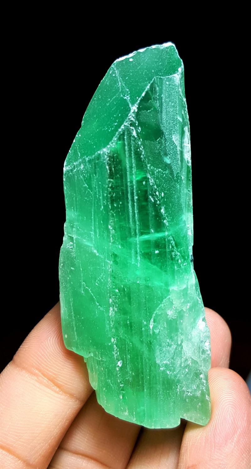 Amazing Good color Damage free Double termination gemmy Hiddenite Crystal 3