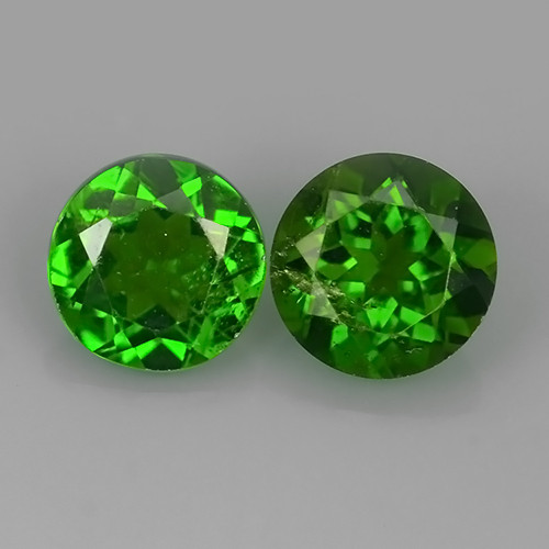 1.80 Cts MARVELOUS RARE ROUND NATURAL TOP GREEN- CHROME DIOPSIDE
